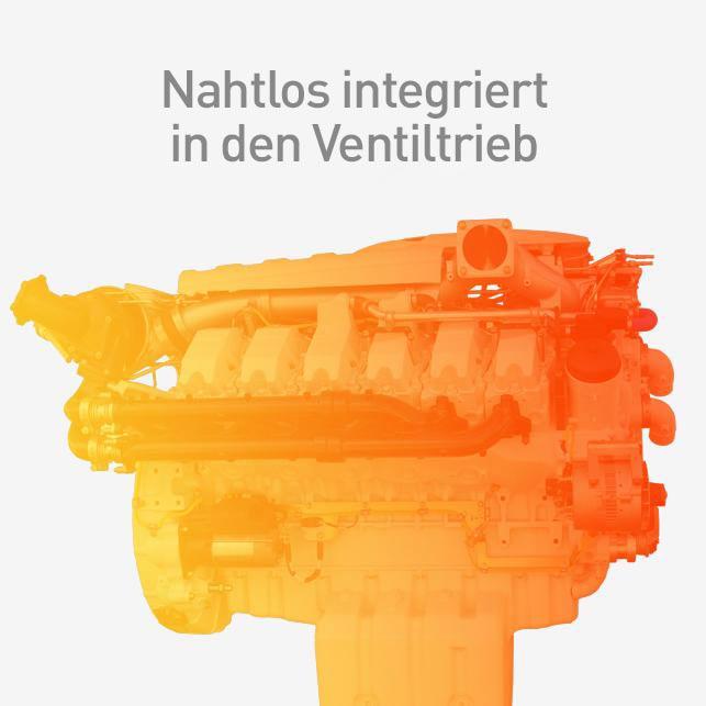 Nahtlos in den Ventiltrieb integriert
