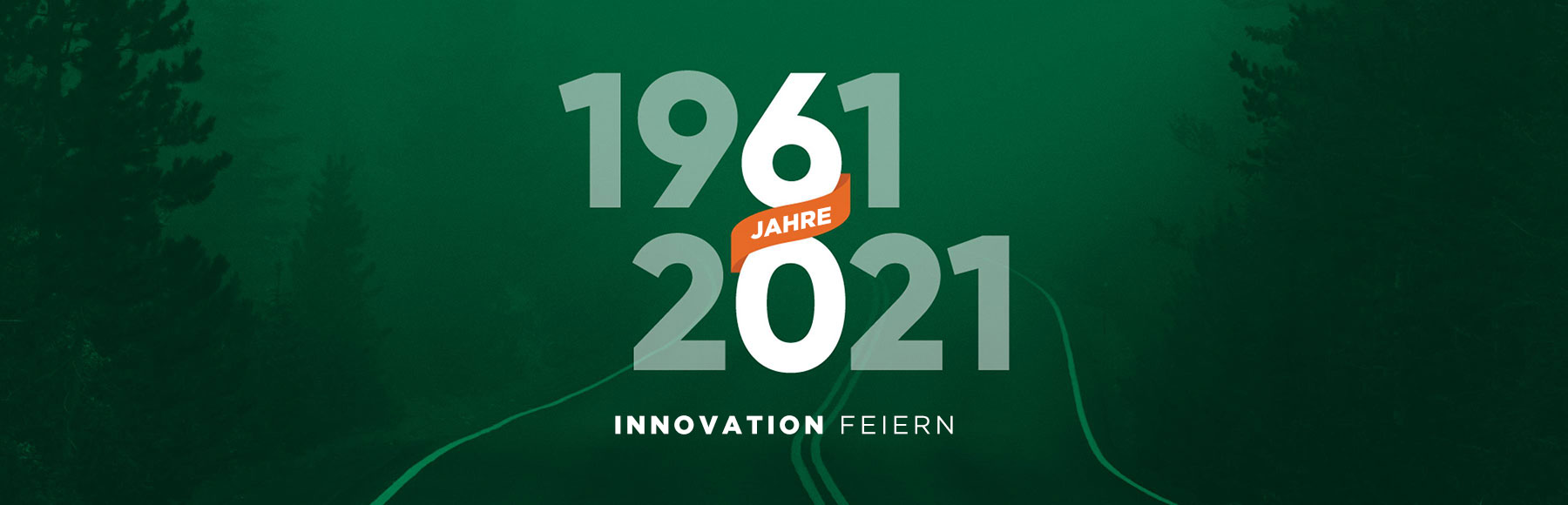 Innovation feiern – 1961 bis 2021 – 60 Jahre-Banner